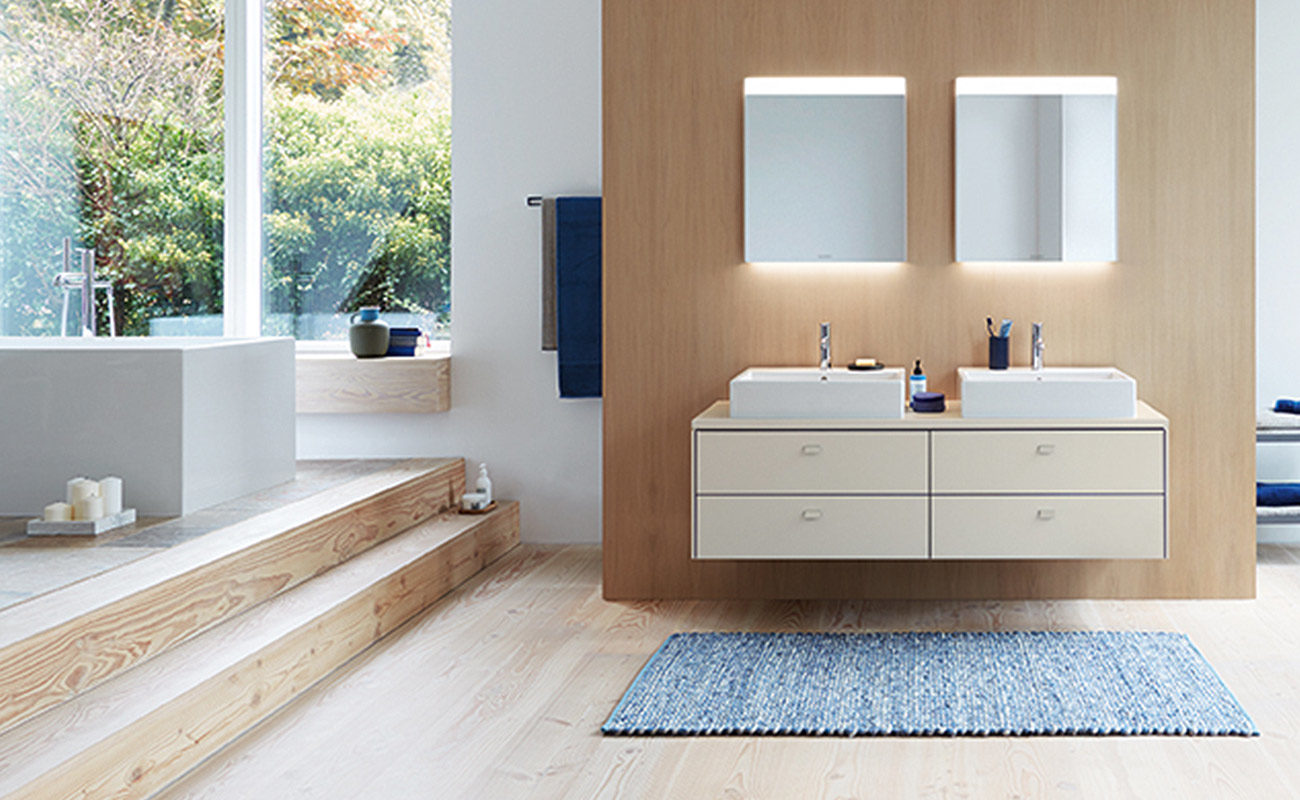 Ideen für's Familienbad komfortable Möbel mit viel Stauraum von ...