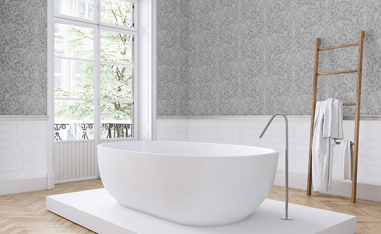 Tapeten im Badezimmer Die schönsten Ideen für die Wandgestaltung ...