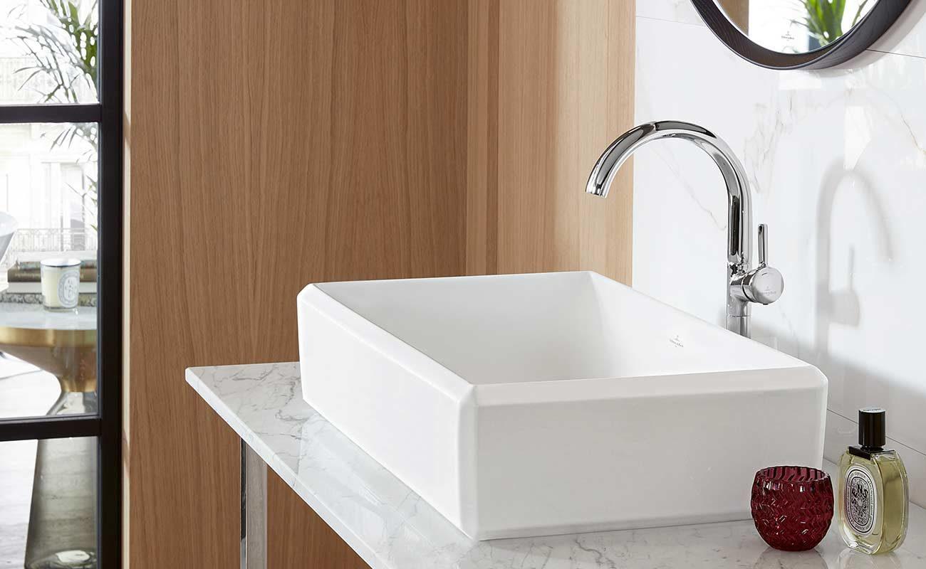 Unterputz Wasserhahn Einhebelmischer Zweigriff Waschtischarmatur Wandarmatur Bad