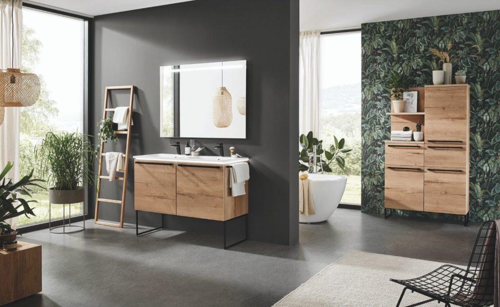 Moderne Badezimmer Möbel in Eiche Sierra Nachbildung von nobilia; Foto: nobilia