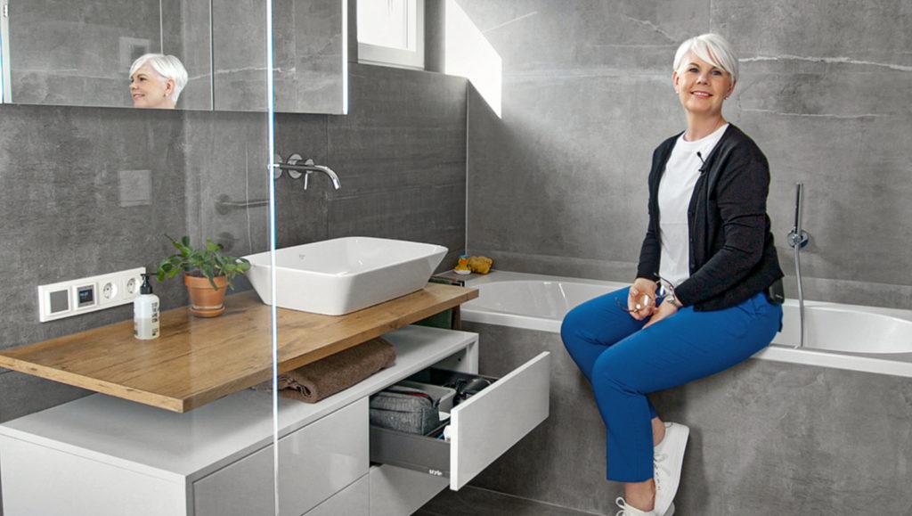 Ein gut konstruierter Waschtisch bietet maximalen Stauraum. Foto: Julius Blum GmbH